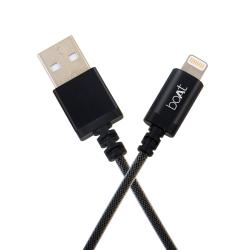 boAt Indestructible USB A to Lightning Cable, Apple MFI Approved For Apple iPhone/iPod, 1 Meter (3.3 Feet) -(Black)