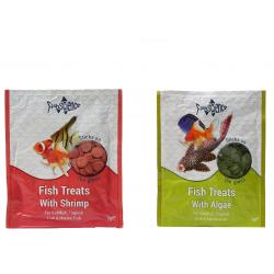 Fishscience Combo Pack Treats with Shrimps Sticks and Treats with Algae Stick Fish Food 9Gms plus 9Gms