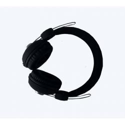 Pebble curve Stereo headphone Black