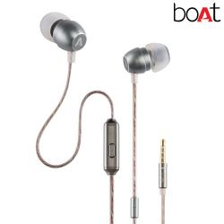 Boat BassHeads 315 in-Ear Headphones with Mic (Silver)
