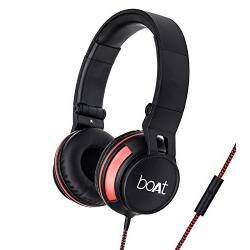 Boat BassHeads 600 On-Ear Headphones with Mic (Black)