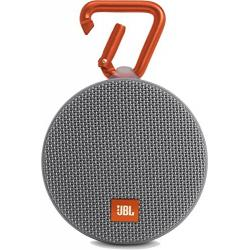 JBL Clip 2 Portable Wireless Bluetooth Speaker with Mic (Gray)