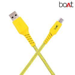 Boat Micro-Rugged700-1.5- Neon Micro USB Cable (Neon)