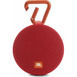 JBL Clip 2 Portable Wireless Bluetooth Speaker with Mic (Red)