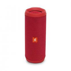 JBL Flip 4 Portable Wireless Speaker with Powerful Bass & Mic (Red)